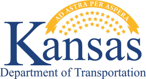 This image has an empty alt attribute; its file name is Kansas-DOT-Logo-small-300x162.png